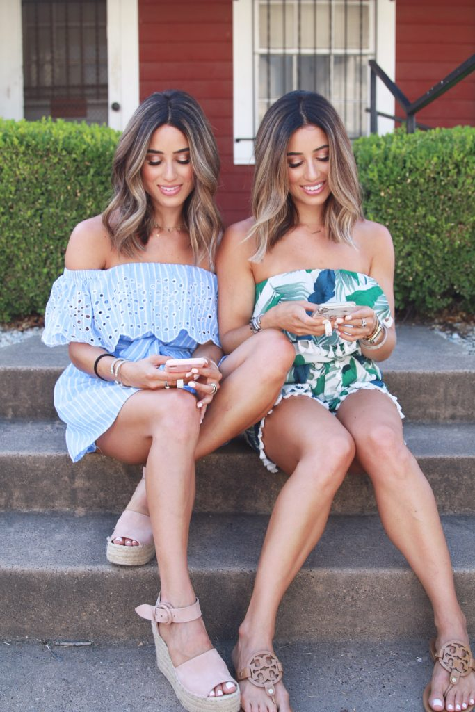 Fashion bloggers and identical twins , Samantha and Alexis Belbel behind the blog adoubledose.com