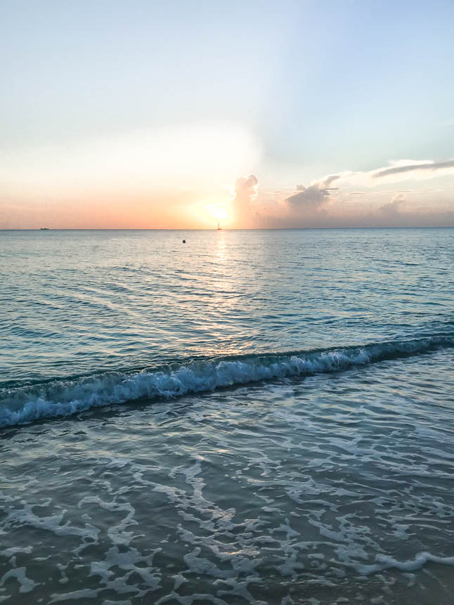 sunset at the ritz carlton grand cayman seven mile beach