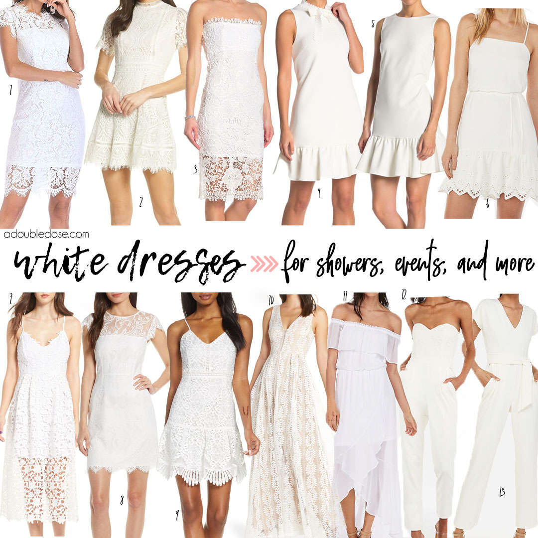 White Dresses for Bridal Events 2019 | adoubledose.com
