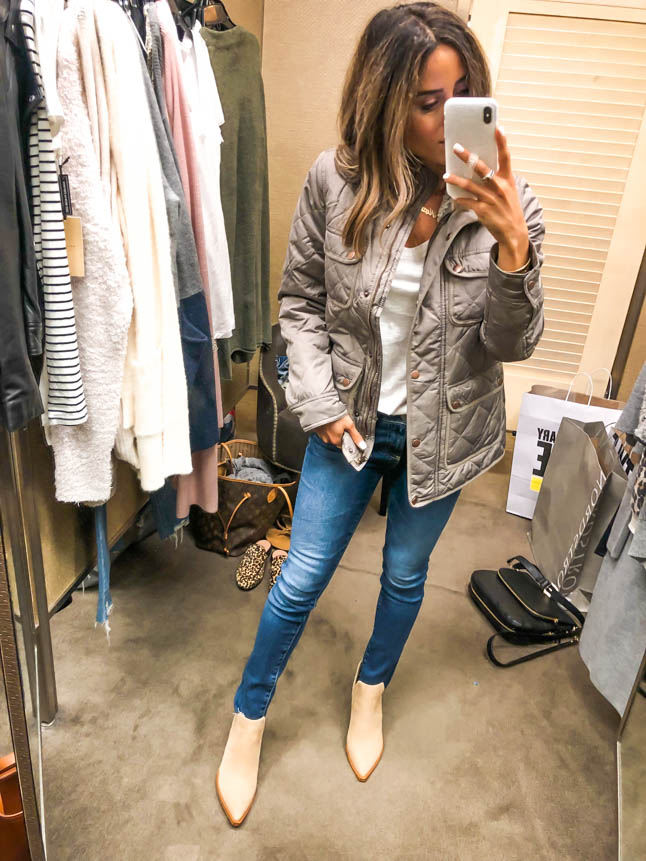 lifestyle bloggers alexis and samantha belbel of adoubledose.com shares tips and their fall sale picks for shopping nordstrom anniversary sale 2019- fall booties, boots, leather jackets, designer jeans, cardigans, workout wear, bags for fall, jewelry, tory burch