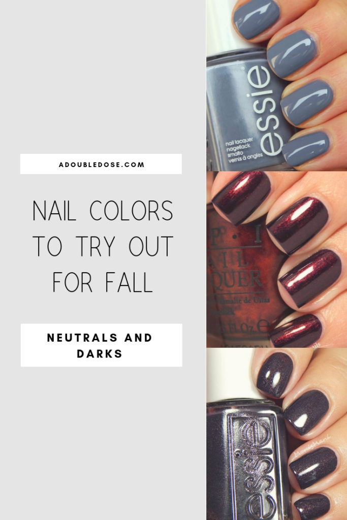 fashion and lifestyle bloggers alexis belbel and samantha belbel share their favorite fall nail colors for fall from OPI, Essie, and more
