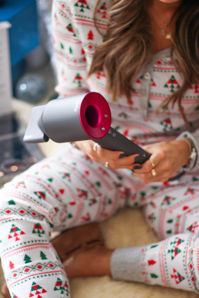 a double dose blog sharing holiday gifts for beauty lovers from Norstrom: dyson hair dryer, silk pillowcase and eye mask, fresh lip balm, Charlotte Tilbury eyeshadow palette and highlighter, charlotte tilbury pillowalk lipstick | adoubledose.com