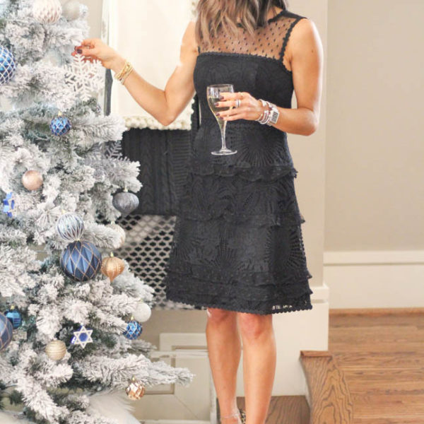 Black Lace Dress For The Holidays