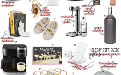 a double dose blog sharing holiday gifts for anyone: original grain wood watches, airpods, wine rack, keurig coffee maker, bluetooth speaker travel neck pillow   adoubledose.com