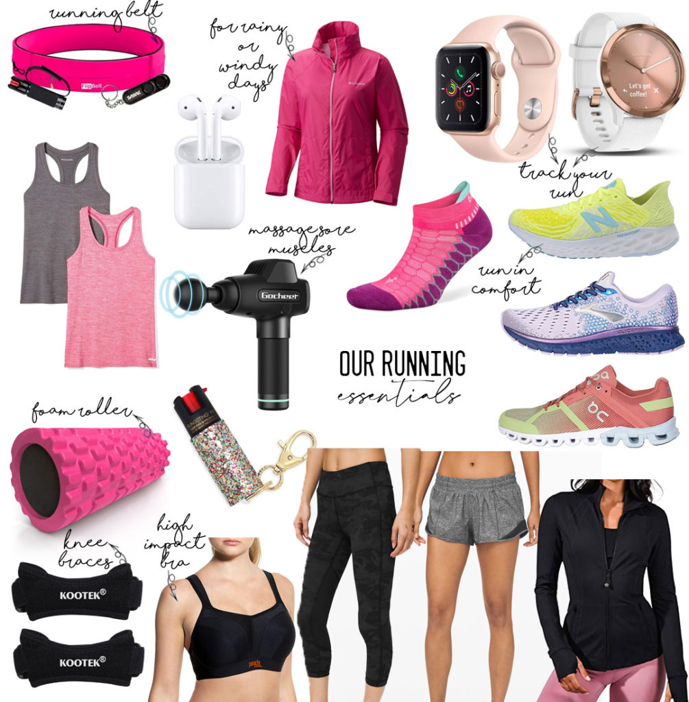 lifestyle and fashion blogger alexis belbel sharing her running must haves: brooks glycerin sneakers, running socks, lululemon running shorts, foam roller, high impact sports bra, flipbelt running belt , apple watch  | adoubledose.com