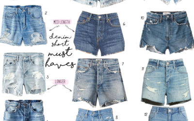 lifestyle and fashion blogger alexis belbel shares her favorite denim shorts from abercrombie, agolde, american eagle outfitters, and target| adoubledose.com