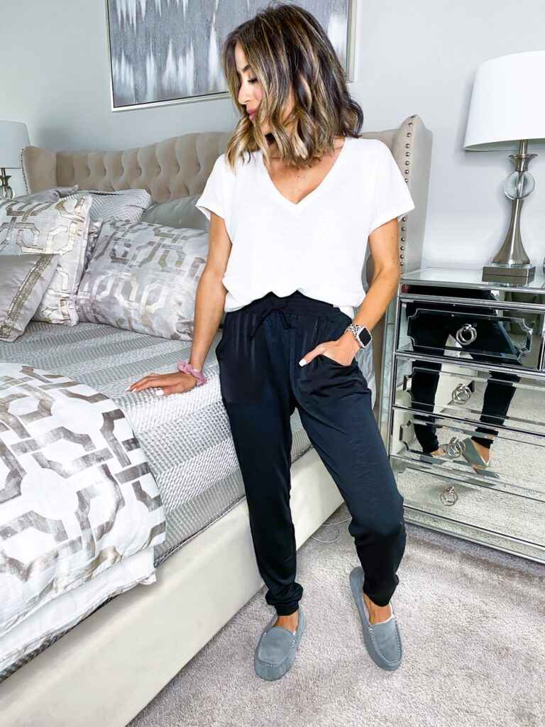 fashion and lifestyle bloggers alexis and samantha belbel share their favorite express clothing sale finds from loungewear to dresses
