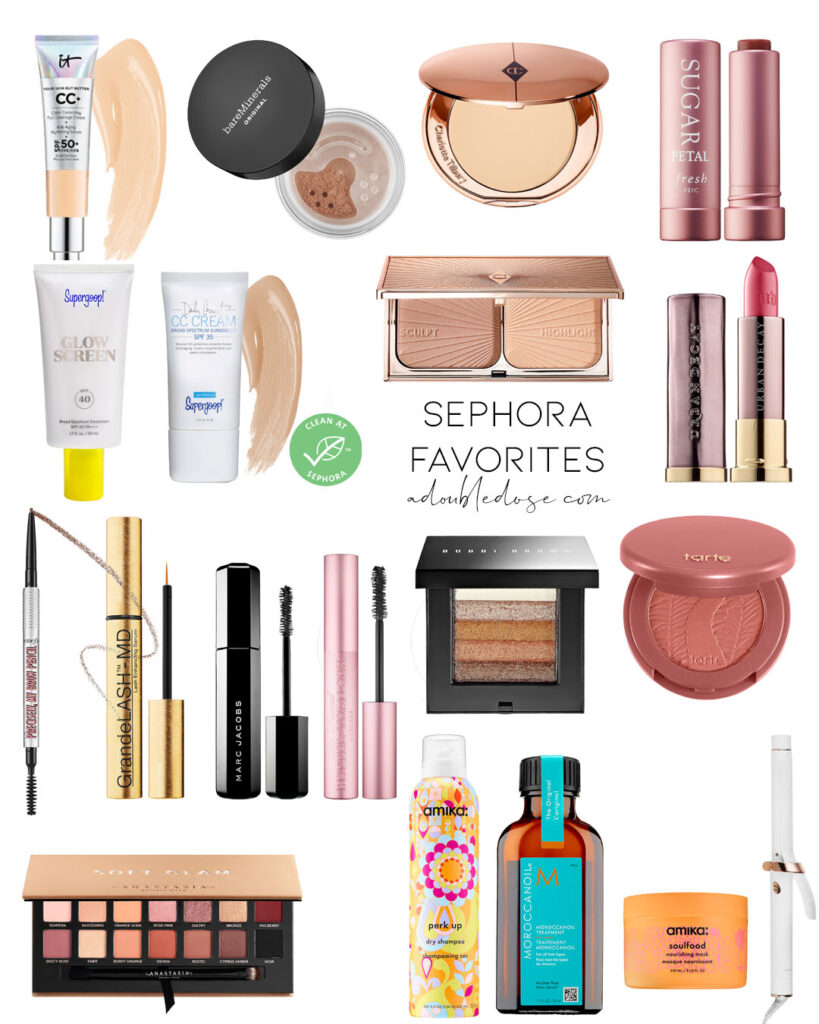lifestyle and fashion blogger alexis belbel sharing her favorite sephora spring sale 2020 picks in hair, skin, and makeup | adoubledose.com