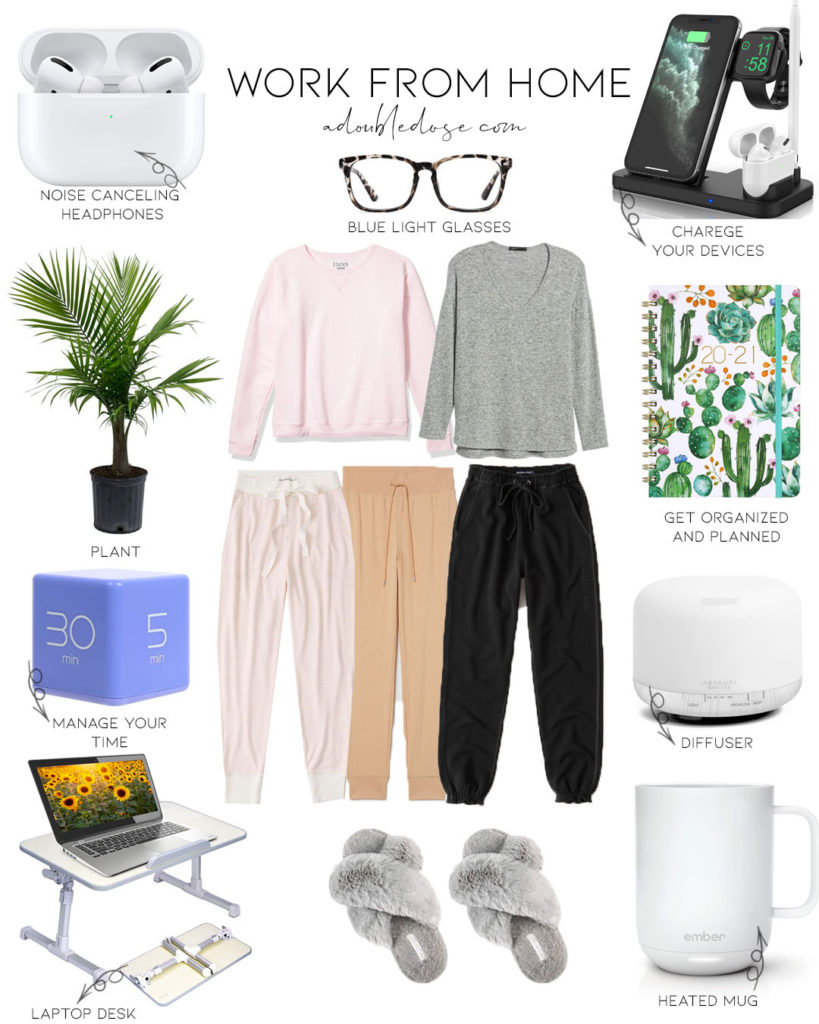 lifestyle and fashion blogger alexis belbel sharing her work from home essentials, amazon work from home, best work from home things