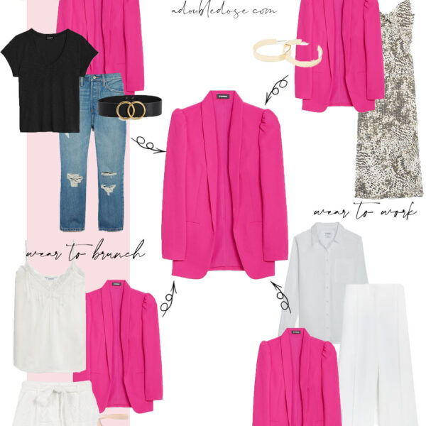How To Style A Pink Blazer 4 Ways