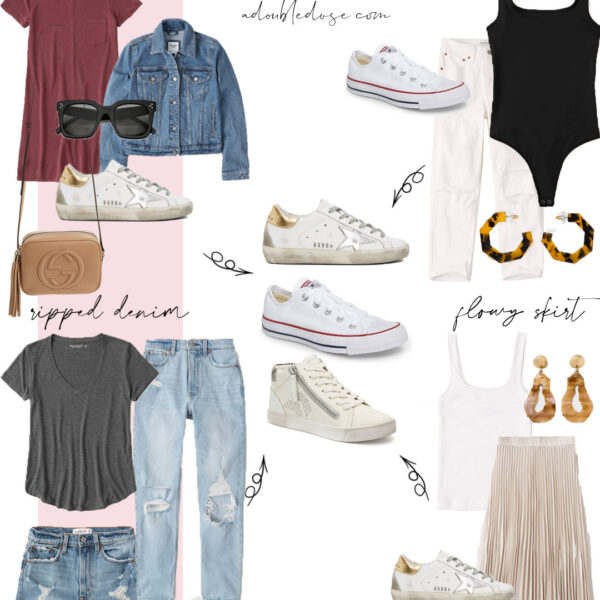 How To Style White Sneakers Four Ways