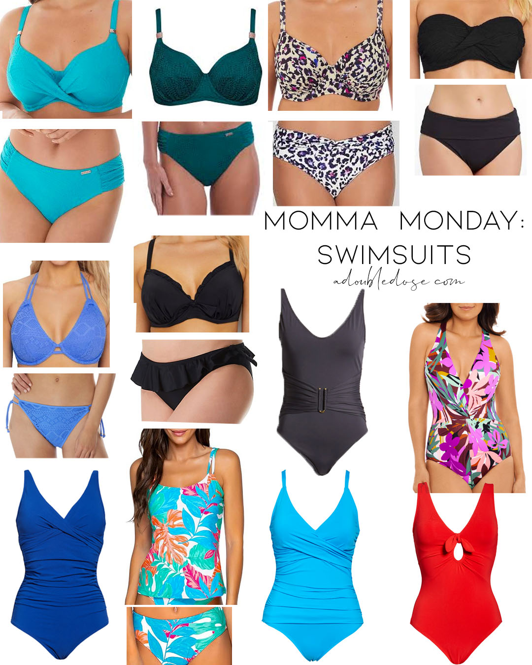 lifestyle and fashion blogger alexis belbel sharing momma monday, a roundup of her mom's favorite swimsuits that are fuller coverage, cute, and on sale | adoubledose.com