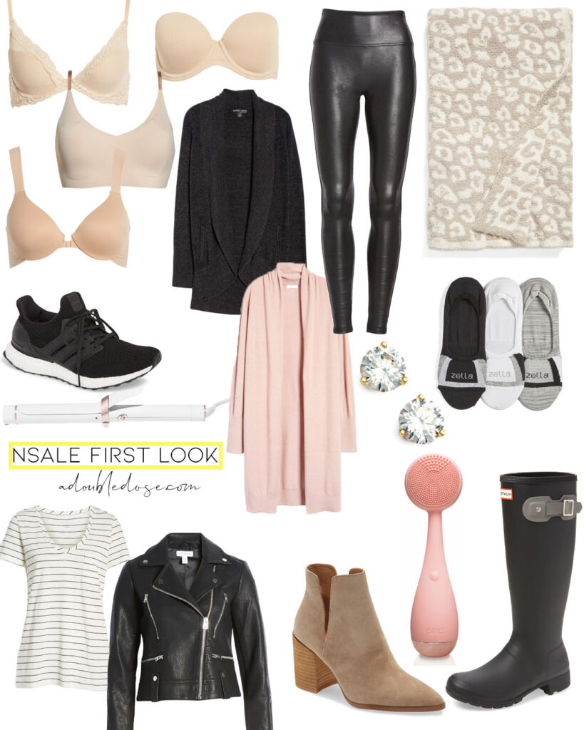 lifestyle and fashion bloggers alexis and samantha belbel share their first look at the nordstrom anniversary sale 2020. They are sharing their picks, best sellers, and pieces that will sell out fast. Barefoot dreams, spanx, booties, hunter boots, natori bras | adoubledose.com