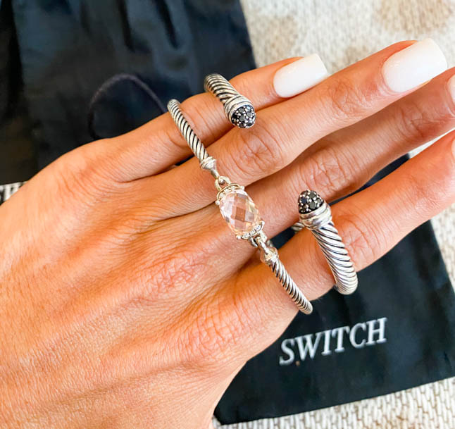 lifestyle and fashion bloggers alexis and samantha belbel share their review of switch, a designer jewelry subscription service where you can rent designer jewelry like david yurman, chanel, dior, and more   adoubledose.com