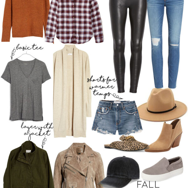 Fall Transitional Closet Staples