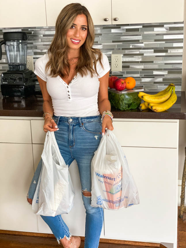 lifestyle and fashion blogger alexis belbel sharing our must haves from walmart's online grocery pickup and delivery and how it works | adoubledose.com
