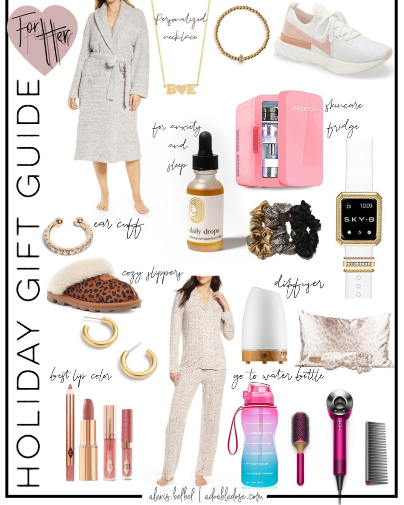 holiday gift guide for her: for aunt, sister, best friend, mom, girlfriend from adoubledose | adoubledose.com