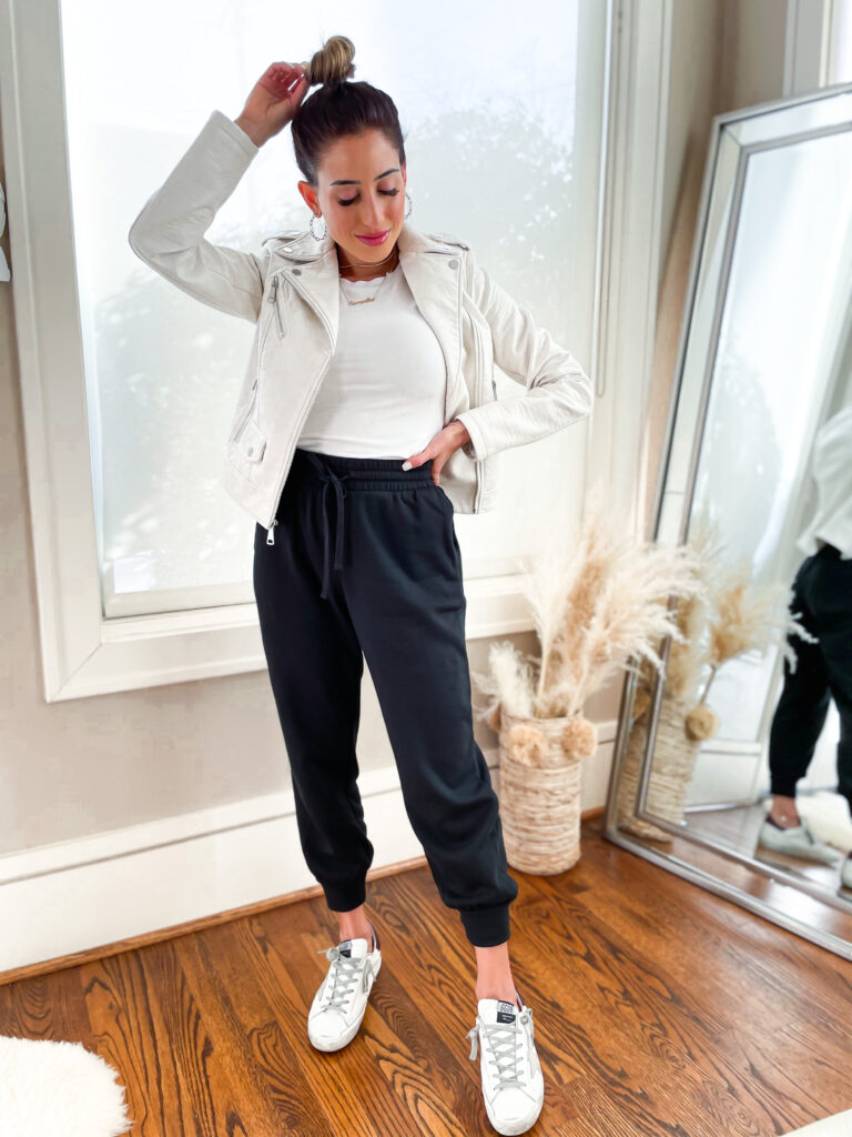 lifestyle and fashion bloggers alexis and samantha belbel are sharing 8 looks from Express to wear for spring, including white jeans, work looks, wedding guest outfits | adoubledose.com