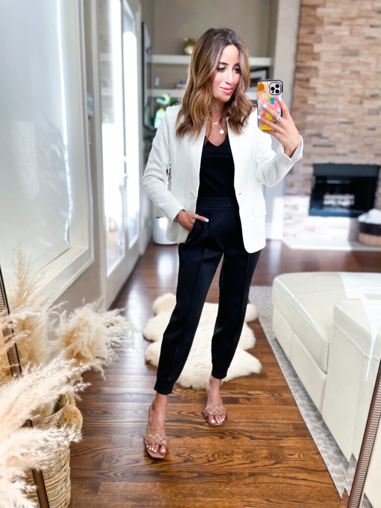 lifestyle and fashion blogger alexis belbel sharing favorite pieces from Express in March and some affordable workwear to wear to the office and outfit ideas | adoubledose.com
