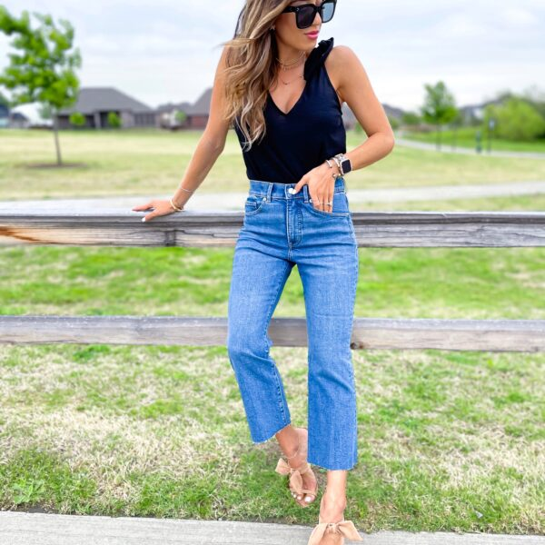 Cropped Flare Jeans For Petites